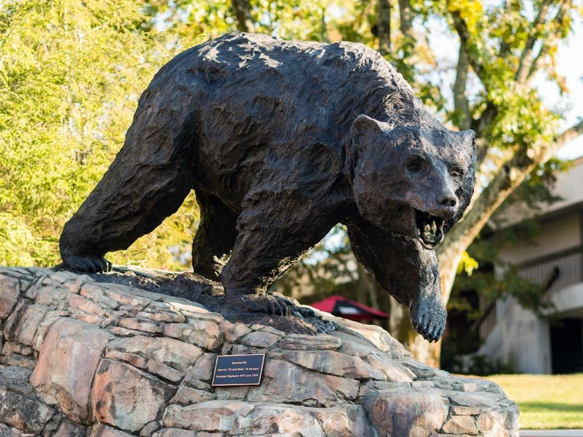 Charge Bear Statue