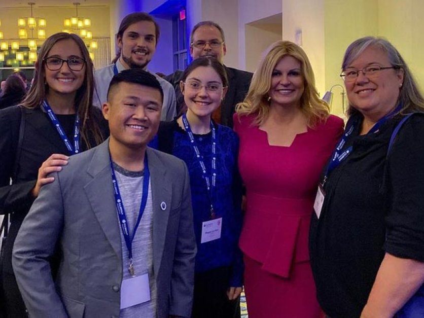 Students meet with president of Croatia during Washington, D.C. event