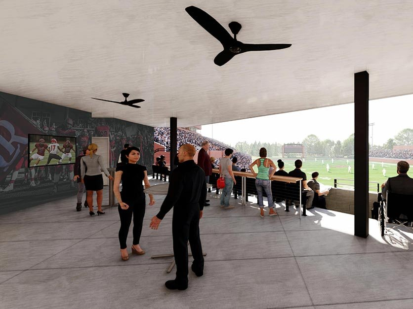 Rendering of the new club seating area