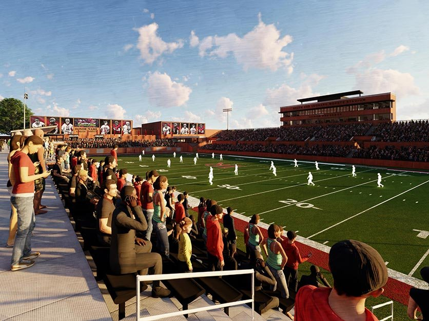 Rendering of a view from the new concourse