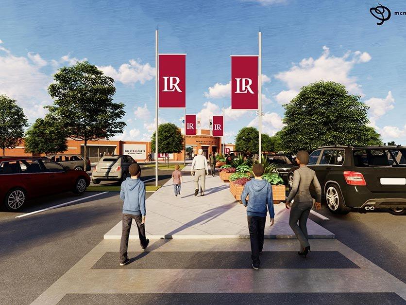 Rendering of the new entrance to Moretz Stadium