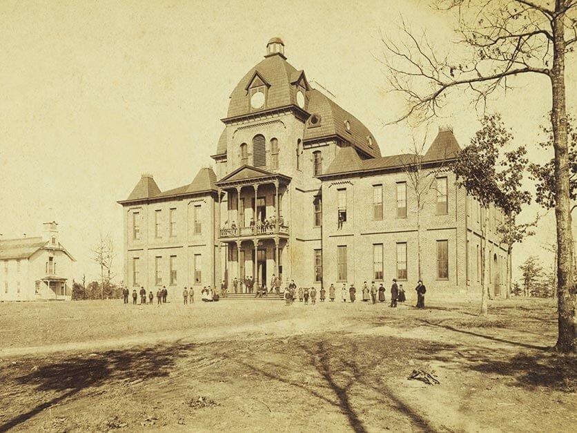 Lenoir-Rhyne's campus in the early 1900's